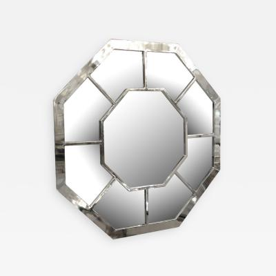 Vintage Chrome Octogonal Mirror American
