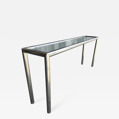 Vintage Chrome and Glass Console Table