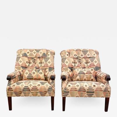 Vintage Club Chairs A Pair