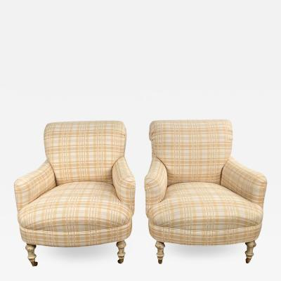 Vintage Club Chairs circa 1970 after 1870 Design A Pair