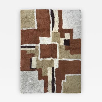 Vintage Color Blocked Shag Rya Rug
