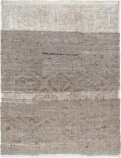 Vintage Decorative Handwoven Flatweave Rug in a Natural and Light Brown