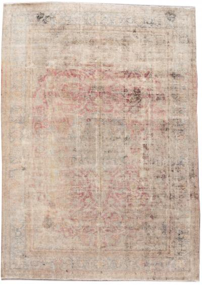 Vintage Distressed Wool Rug 10 X 14