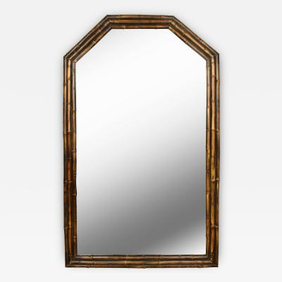 Vintage English Bamboo Mirror