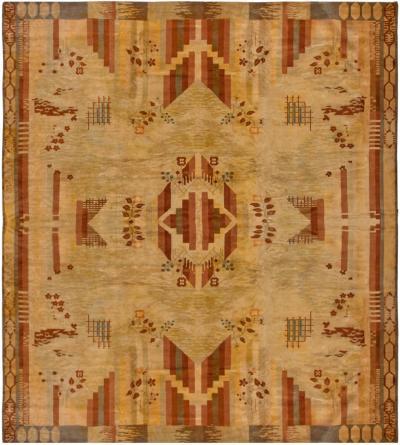 Vintage French Art Deco Carpet