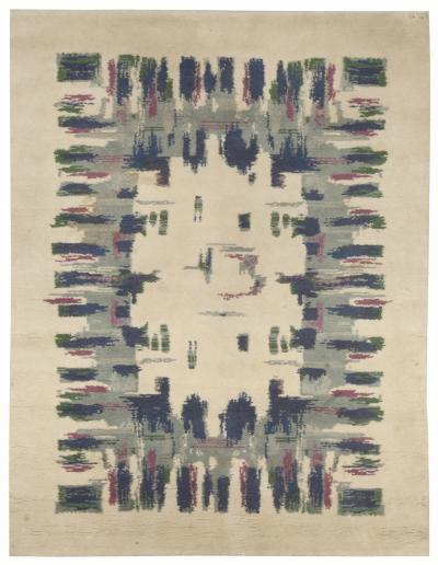 Vintage French Deco Rug