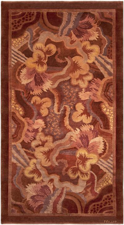 Vintage French Deco Rug by Paul Follot