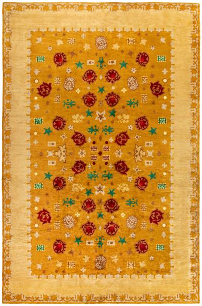 Vintage French Deco Rug by Paule Leleu
