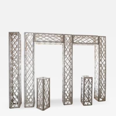 Vintage French Painted Trellis