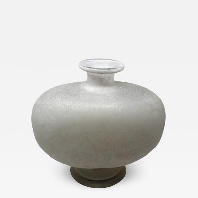 Vintage Frosted Murano Vase
