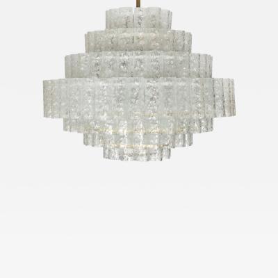 Vintage Glass Pendant Light By Doria