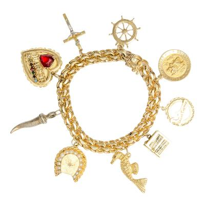 Vintage Gold Charm Bracelet from the First Female Fishing Boat Captain