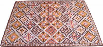 Vintage Hand Knotted Berber Wool Tribal Rug