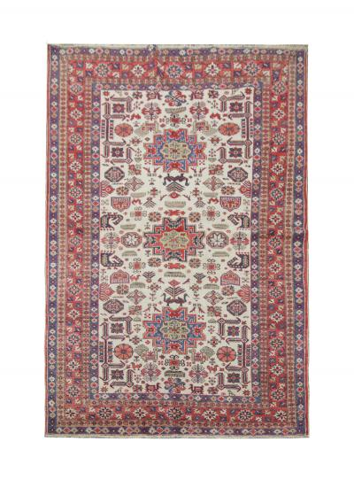 Vintage Handwoven Karakashli Caucasian Rug