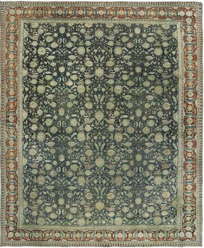 Vintage Indian Agra Carpet