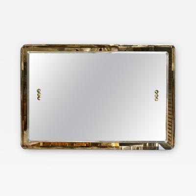 Vintage Italian Beveled Smoky Mirror 1960s