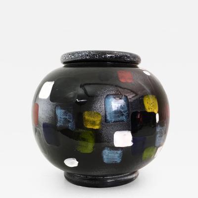 Vintage Italian Deruta Vase Italy 1960s 1970s