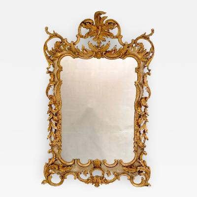 Vintage Italian Gilt and Painted Mirror