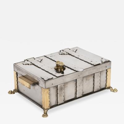 Vintage Italian Steel Document Box