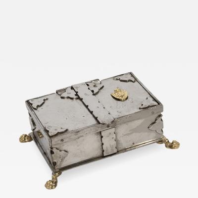 Vintage Italian Steel Jewelery Box
