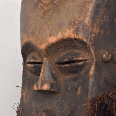 Vintage Lega Mask Bearded Bwami Society