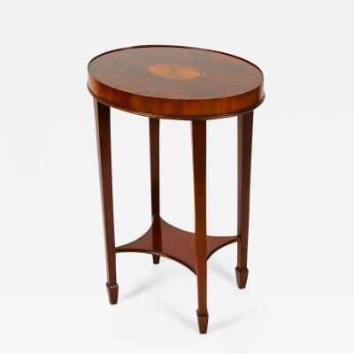 Vintage Mahogany Wood Oval Side Table