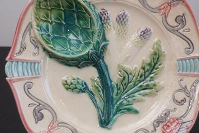 Vintage Majolica Artichoke Plates