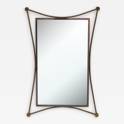Vintage Mid Century Italian Brass Mirror