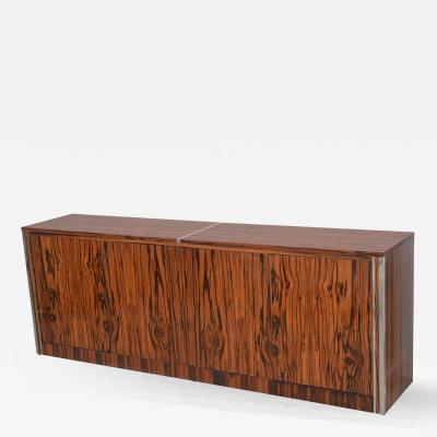 Vintage Mid Century Modern Zebrawood Cabinet Credenza