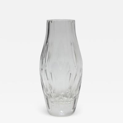 Vintage Mid Century Modernist Crystal Vase 1970 Europe