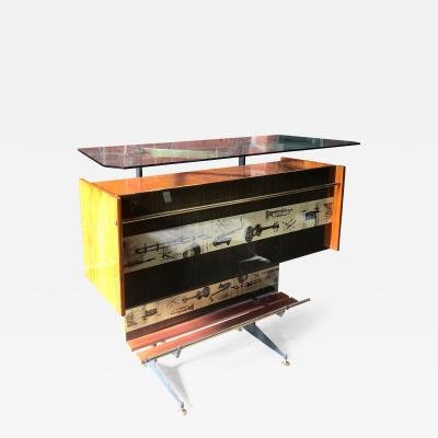 Vintage Midcentury Italian Jazz Bar Cabinet and Display Case 1950s