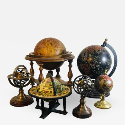 Vintage Miniature World Globe Collection