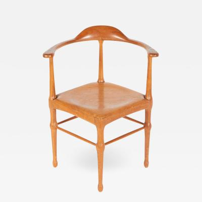 Vintage Model of Danish Mid Century Corner Chair