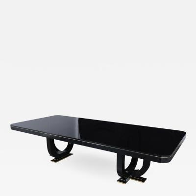 Vintage Modern Ebonized Dining Table