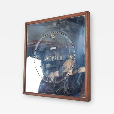Vintage Modern Mirrored DIGITAL Day Wall CLOCK Del Mar CA