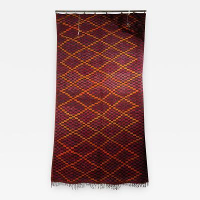 Vintage Moroccan Large Pile Purple Rug