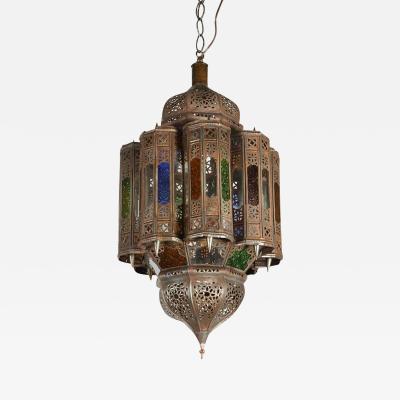 Vintage Moroccan Mamounia Glass Pendant