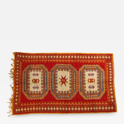 Vintage Moroccan Orange Tribal Rug