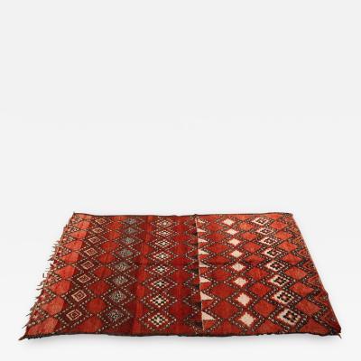 Vintage Moroccan Red Tribal Rug