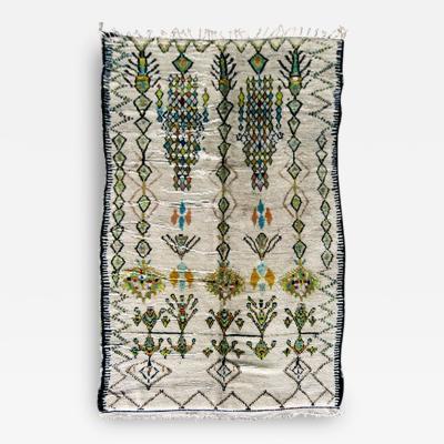 Vintage Morrocan Wool Rug with Geometrical Pattern