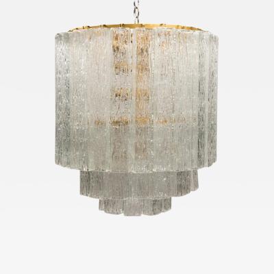 Vintage Murano Glass Block Chandelier