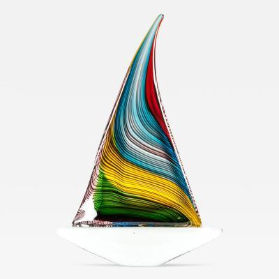 Vintage Murano Glass Boat Deco Piece