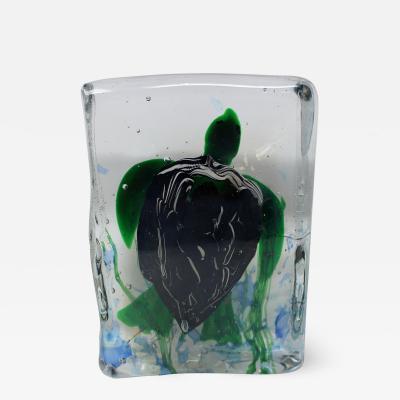 Vintage Murano Glass Turtle Aquarium