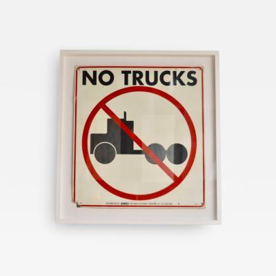 Vintage No Trucks Sign