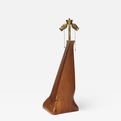 Vintage Organic Wood Table Lamp