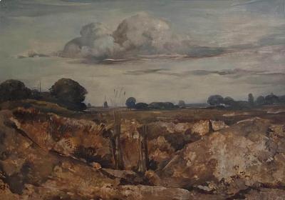 Vintage Painting WIllem Van Den Berg Landscape