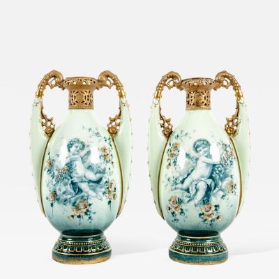 Vintage Pair European Decorative Vases