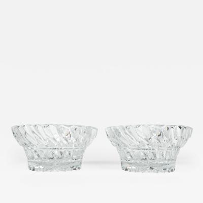Vintage Pair Heavy Cut Crystal Bowl