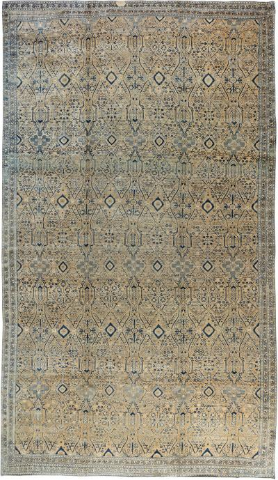 Vintage Persian Kirman Rug size adjusted
