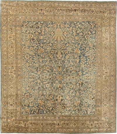 Vintage Persian Meshad Rug size adjusted